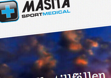 Webbdesign för Masita Sport medical